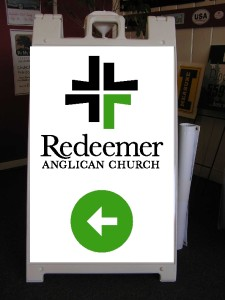 Redeemer sandwich board