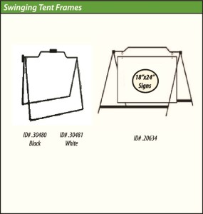 Sign-Authority Swinging Tent Frames
