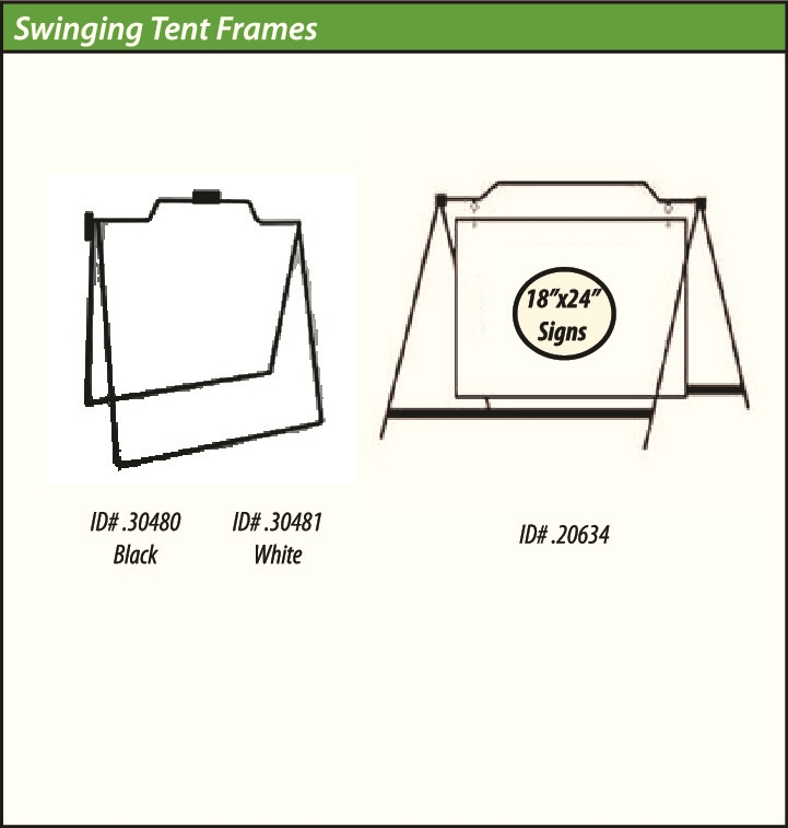 Swinging tent frames | Sign Authority