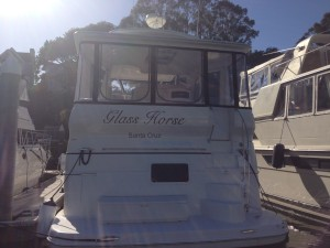 boat.vehicle lettering-glass horse