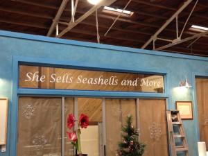 window lettering-she sell seashells
